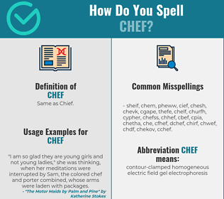 Correct spelling for chef