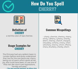 Correct spelling for cherry