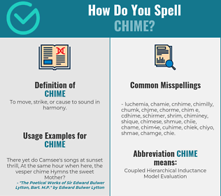 Correct spelling for chime