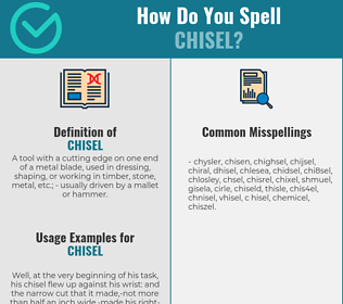 Correct spelling for chisel