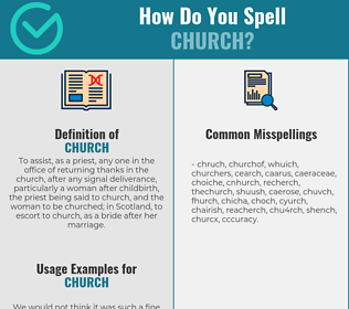 Correct spelling for church