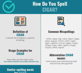 Correct spelling for cigar