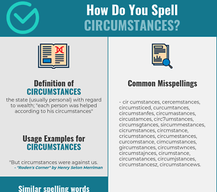 Correct spelling for circumstances