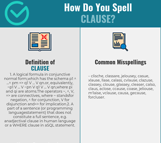 Correct spelling for clause