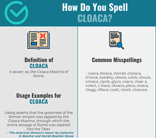 Correct spelling for cloaca