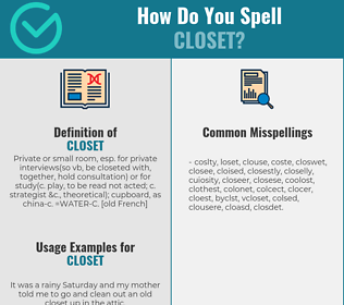 Correct spelling for closet