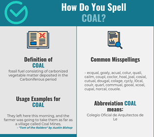 Correct spelling for coal
