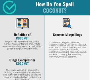 Correct spelling for coconut