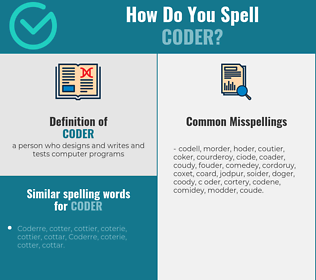 Correct spelling for coder
