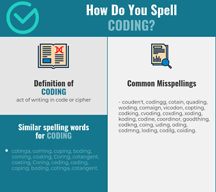 Correct spelling for coding