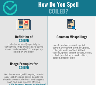 Correct spelling for coiled