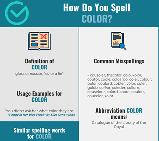 Correct spelling for color