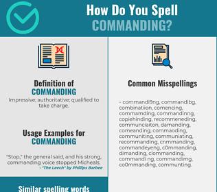 Correct spelling for commanding