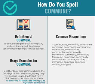 Correct spelling for commune