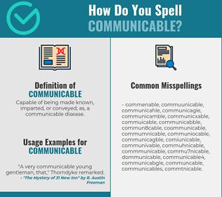 Correct spelling for communicable