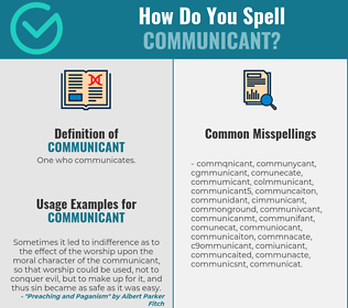 Correct spelling for communicant