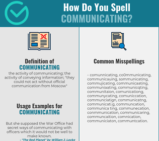 Correct spelling for communicating