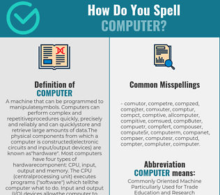 Correct spelling for computer