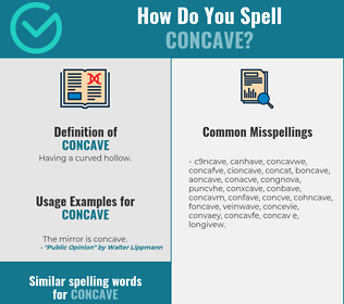 Correct spelling for concave