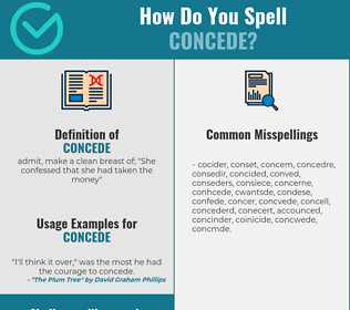 Correct spelling for concede