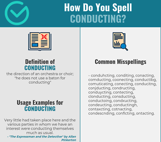 Correct spelling for conducting