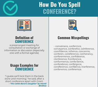 Correct spelling for conference