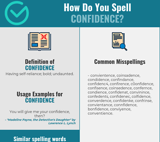 Correct spelling for confidence