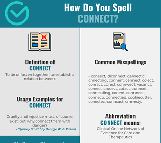 Correct spelling for connect