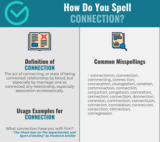 Correct spelling for connection