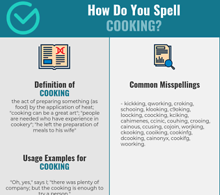 Correct spelling for cooking