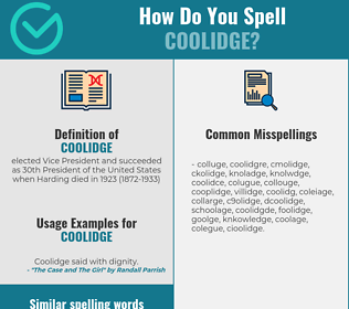 Correct spelling for coolidge