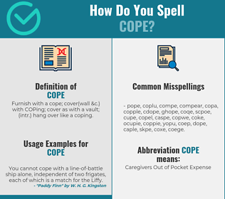 Correct spelling for cope