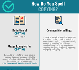 Correct spelling for copying