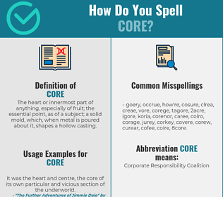 Correct spelling for core