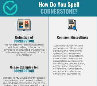 Correct spelling for cornerstone