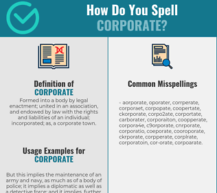 Correct spelling for corporate