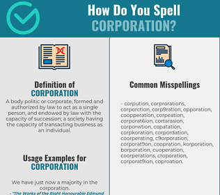 Correct spelling for corporation