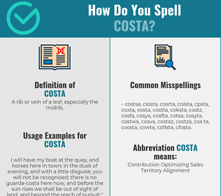 Correct spelling for costa