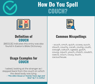 Correct spelling for couch
