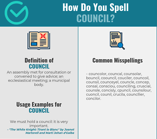 Correct spelling for council