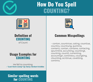 Correct spelling for counting