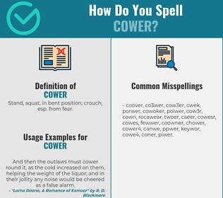 Correct spelling for cower