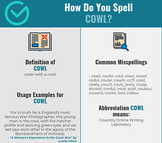 Correct spelling for cowl