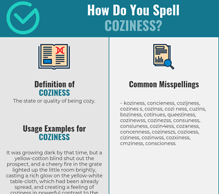 Correct spelling for coziness