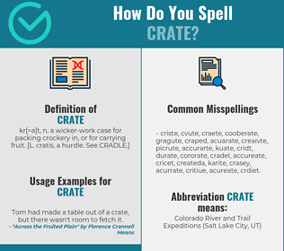 Correct spelling for crate