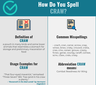 Correct spelling for craw