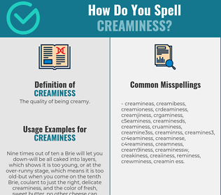 Correct spelling for creaminess