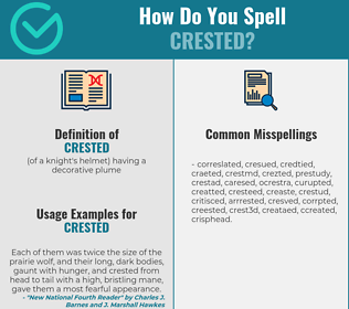 Correct spelling for crested