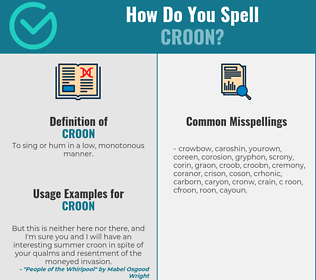 Correct spelling for croon
