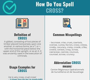 Correct spelling for cross